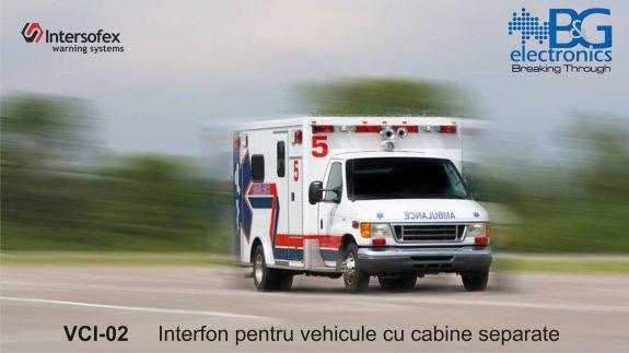 Interfon pentru vehicule cu cabine separate VCI-02